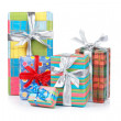 Assortment of gift boxes - Stock Photo