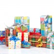 Stock Photo: Assortment of gift boxes