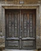 Starožitné dřevěné dveře — Stock fotografie