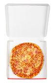 Tasty Italian pizza in the box — Stock Photo
