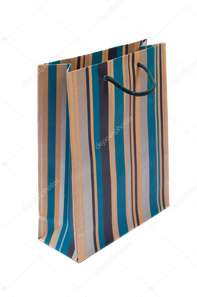 A shopping bag, isolated on white background  Stock Photo #6339670