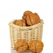 Walnuts in the basket — Stock Photo #6340031