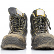 Pair of old work boots — Stock Photo