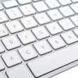 Wireless aluminum keyboard detail — Stock Photo