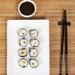 Sushi and soy sauce — Stock Photo #6341012