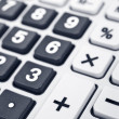 Stock Photo: Calculator keyboard detail