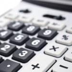 Calculator keyboard detail — Stock Photo