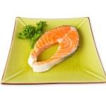 Fresh salmon steak — Stock Photo #6341530