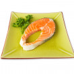 Fresh salmon steak — Stock Photo