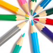 Colored school pencils — Stock Photo