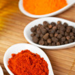 Spices background - Stock Photo