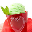 Delicious mint ice cream — Stock Photo #6341811