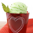 Delicious mint ice cream — Stock Photo #6341814