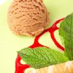Delicious chocolate ice cream — Stock Photo
