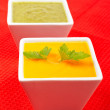 Carrots puree with parsley and spinach — Stock Photo