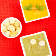 Spinach and carrots puree — Stock Photo