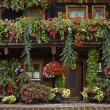 Typical floral adornments in Austria - Stock Photo