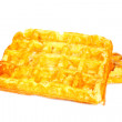 Two waffles - Stock Photo