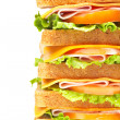 Healthy ham big sandwich — ストック写真