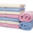 Multicolored towels stacked — Stock Photo #6344162