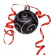 Christmas ball with a ribbon — Stock Photo #6344331