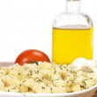 Cooked plate of pasta — Stock Photo