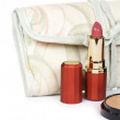 Royalty-Free Stock Photo: Lipstick and handbag