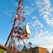 Telecommunications tower — Stock Photo #6345002