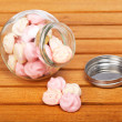 Pink marshmallows — Stock Photo
