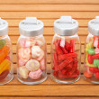 Glass jars of candies — Stockfoto #6345228