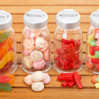 Royalty-Free Stock Photo: Glass jars of candies