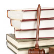 Wooden gavel and law books — Stock Photo #6345354