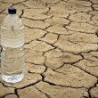 Water bottle on dry ground — Stock Photo #6345796