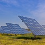 Usina de energia solar — Foto Stock