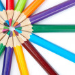 Stock Photo: Colored school pencils
