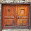 Antique wooden door - Stock Photo