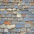 Close up of slate roof tiles background — Foto de stock #6346084