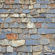 Close up of slate roof tiles background - Stock Photo
