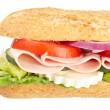 Baguette sandwich — Stock Photo