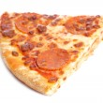 bit av god italiensk pizza — Stockfoto