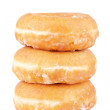 Three delicious donuts — Stock Photo