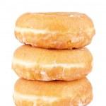 Three delicious donuts — Stock Photo