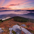 Mountains over the fog — Stock Photo