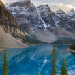 wenkchemna peaks and moraine lake — Stock Photo