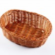 Empty wicker basket — 图库照片