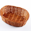 Empty wicker basket — Stock Photo #6347570