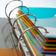 Binder closeup with files stacked — 图库照片 #6347576
