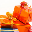 Stock Photo: Detail of gift boxes