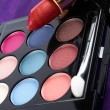 Detail of assortment of makeups — Stock Photo #6347745