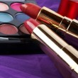 Detail of assortment of makeups — Stock Photo